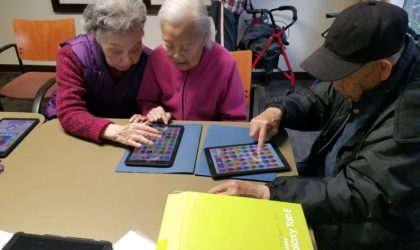CTN learners using Tablets in Cantonese class